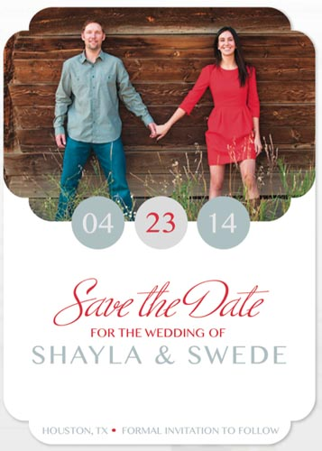 save the date cards - Circle Our Date by Shayla