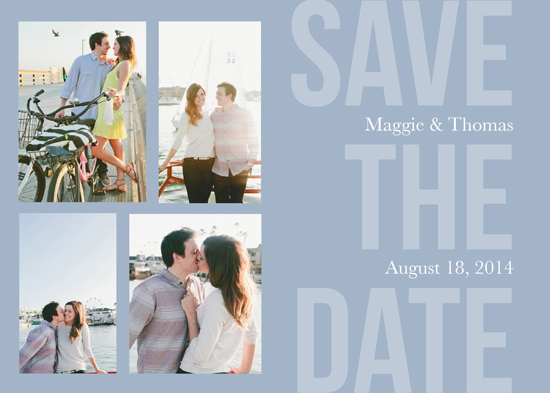 save the date cards - Bold and Brave by Andrea Castek