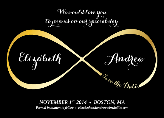save the date cards - Infinity by itsjensworld