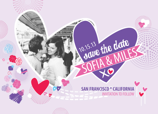 save the date cards - Vintage Glam Flavor of Love - Option 2 by Olive Primo Design