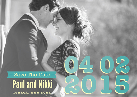 save the date cards - The Big Day by Christina Goss