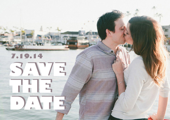 save the date cards - Save the Bold by Andrea Castek