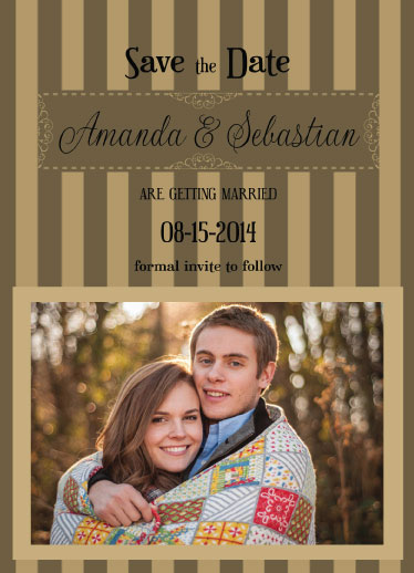 save the date cards - Striped Desire by Cindy Jost