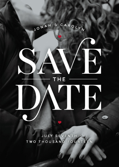 save the date cards elegant swash at minted com