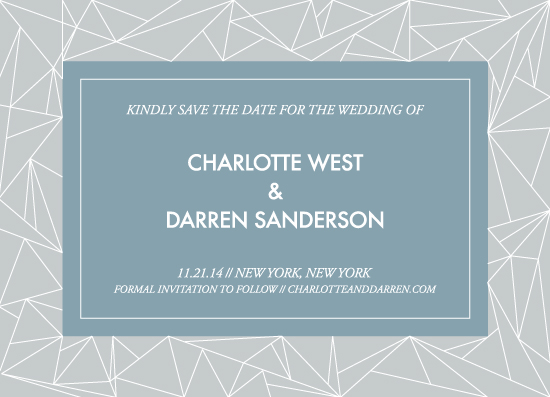 save the date cards - Geometrical by itsjensworld