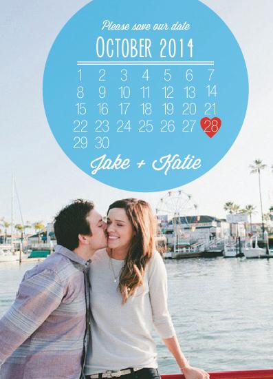 save the date cards - Heart Calendar by Lauren Rust
