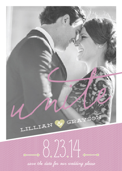 save the date cards - Unite Photo by Social Grace