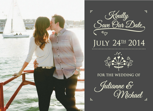 save the date cards - Kindly by Lindsay Kivi