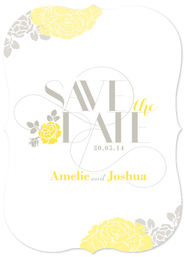 save the date cards - Floral Deco by Creative Elements