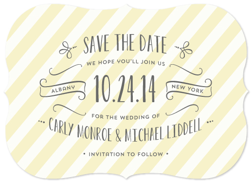 save the date cards - Chic Stripe by Laura Hankins