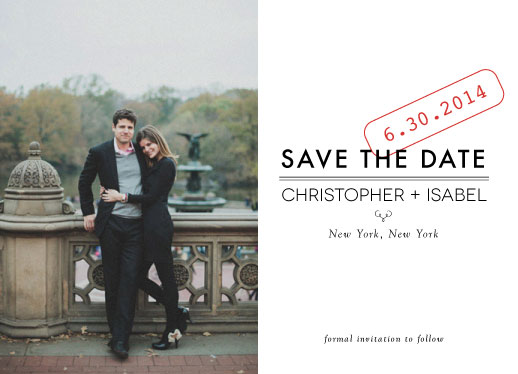 save the date cards - Impression by Dogear Press