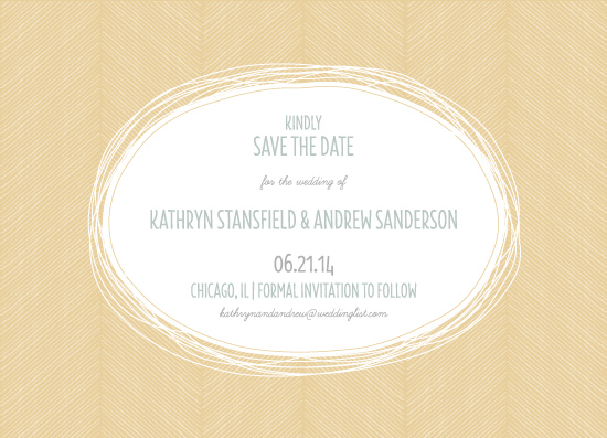 save the date cards - Hand Drawn Herringbone by itsjensworld