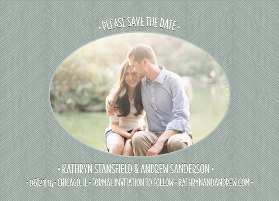 save the date cards - Hand Drawn Herringbone With Photo by itsjensworld