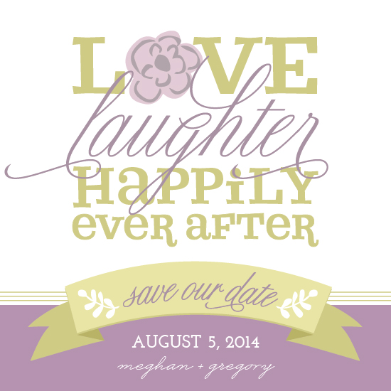save the date cards - Love, Laughter, Happily Ever After by Social Grace
