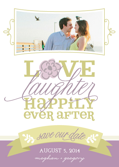 save the date cards - Love, Laughter, Happily Ever After Photo by Social Grace