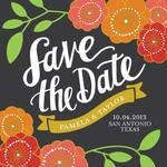Floral Save the Date by Lauren Heffron