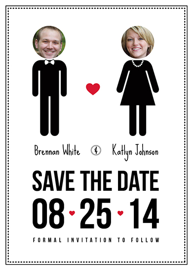save the date cards - Pictogram Couple by Talita Rinaldi