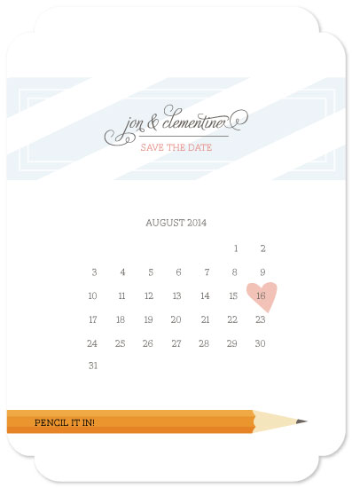save the date cards - pencil it in! by gracegraceface