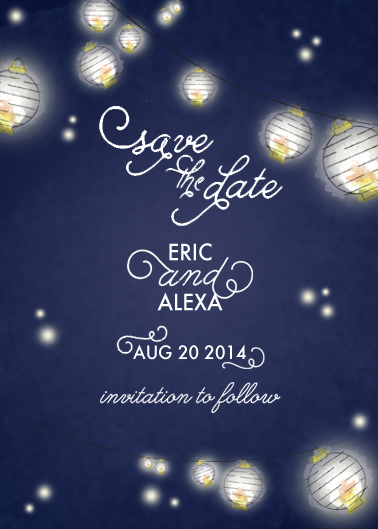 save the date cards - Light Of Their Life by Adriane