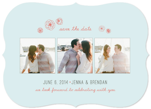 save the date cards - Little Rosettes by Petal and Print