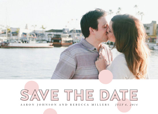 save the date cards - Polka Dot Pop by Paperful Press