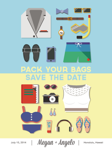 save the date cards - Pack Your Bags! by Angelo F
