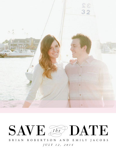 save the date cards - Color Band by Paperful Press