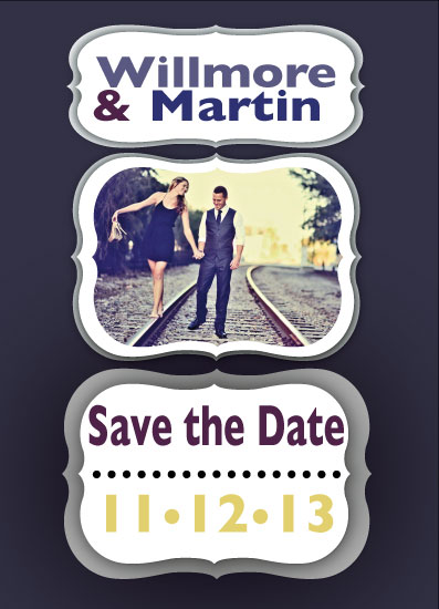 save the date cards - Frame the Moment by Isaiah Vela