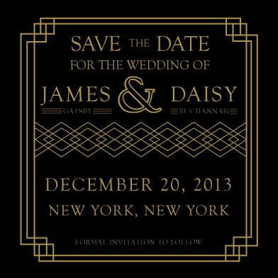 save the date cards - Art Deco by Samantha