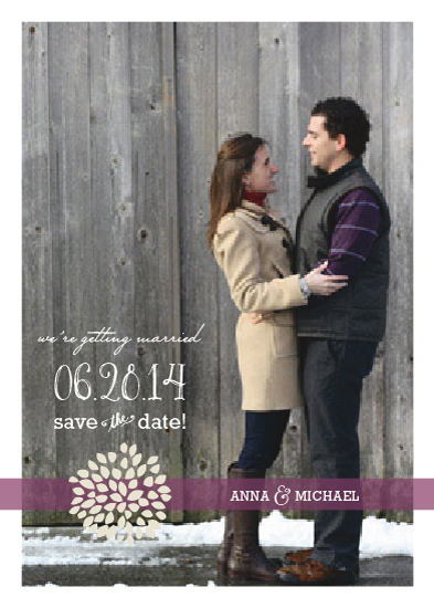 save the date cards - Love In Bloom by Social Grace