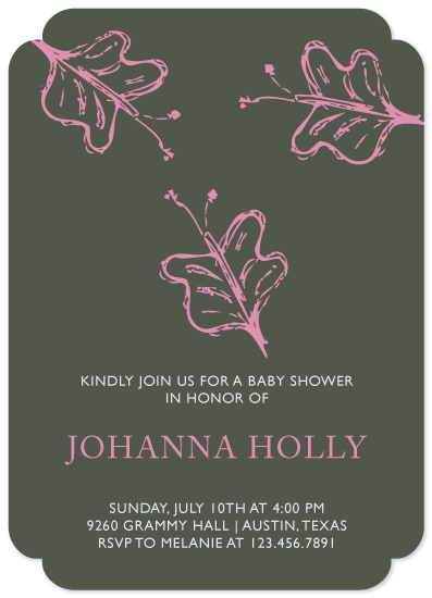 baby shower invitations - three butterflies by aticnomar