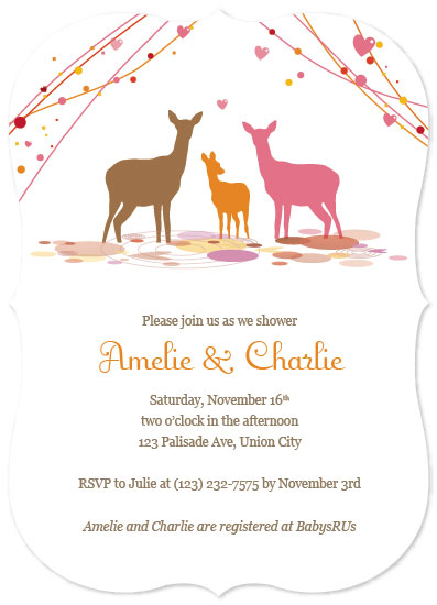 baby shower invitations - Oh Deer by Ivy Skye Jaquez
