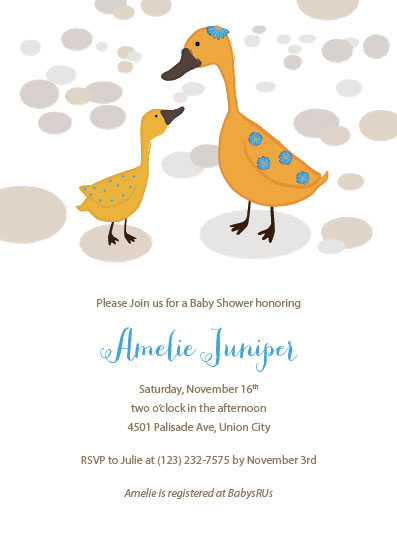 baby shower invitations - Darling Ducks by Ivy Skye Jaquez
