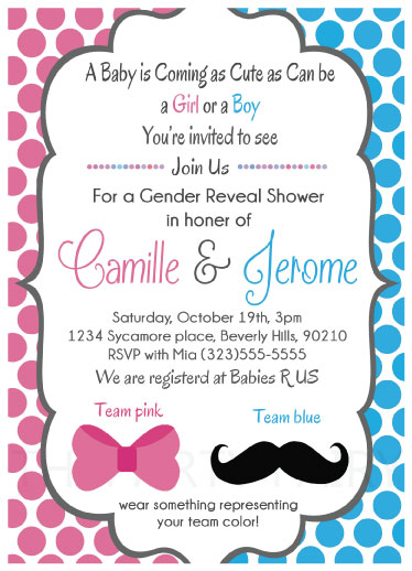 Baby shower invitations mustache or bows reveal at minted baby shower invitations mustache or bows reveal by shardae bennett filmwisefo Image collections