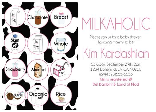 baby shower invitations - Milkaholic baby shower invitation by Shardae Bennett