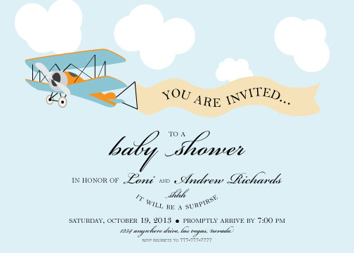 Baby Shower Invitations Fly Away