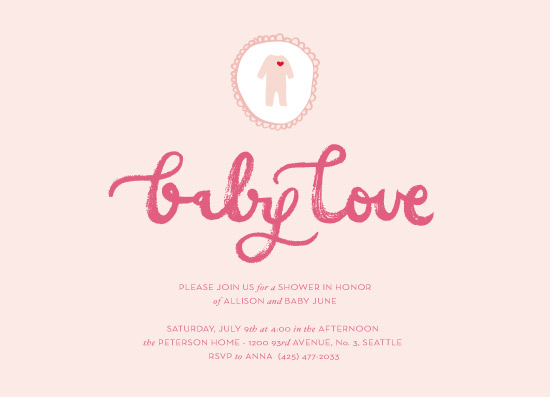 baby shower invitations - pink baby love by la Happy