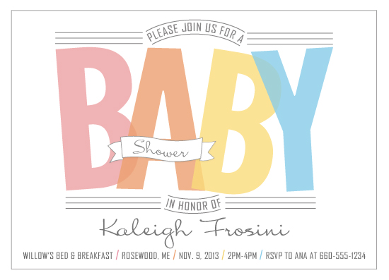 baby shower invitations - Minimal Rainbow by Erin England
