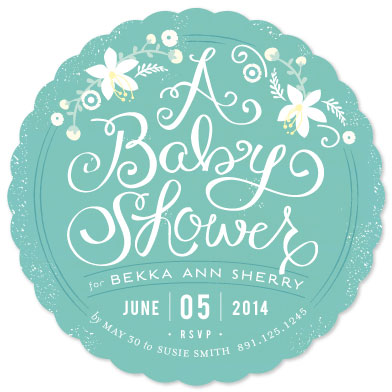 baby shower invitations - A Baby Shower by Lori Wemple