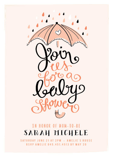 baby shower invitations umbrella shower at minted com