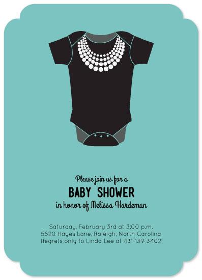 baby shower invitations Breakfast at Tiffanys at Mintedcom