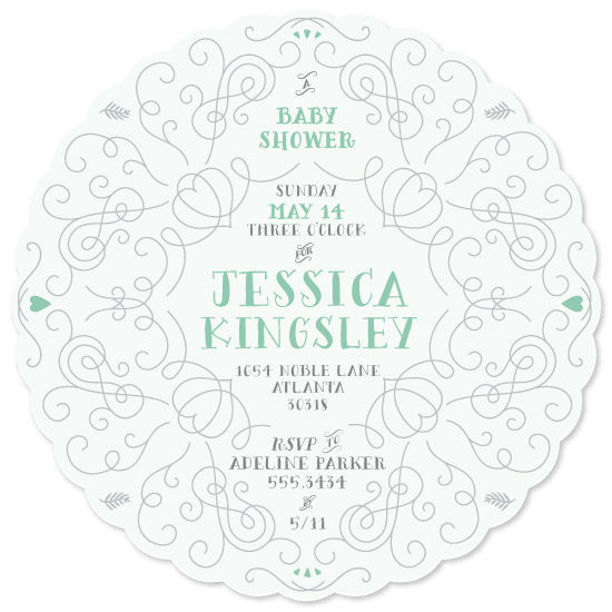 baby shower invitations - Simply Baby by Pop and Shorty