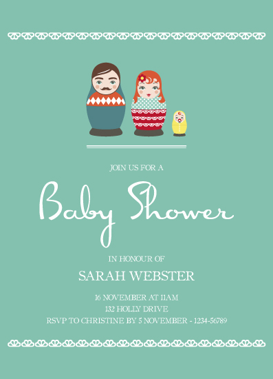 baby shower invitations - One plus one makes three by Katarina Berg