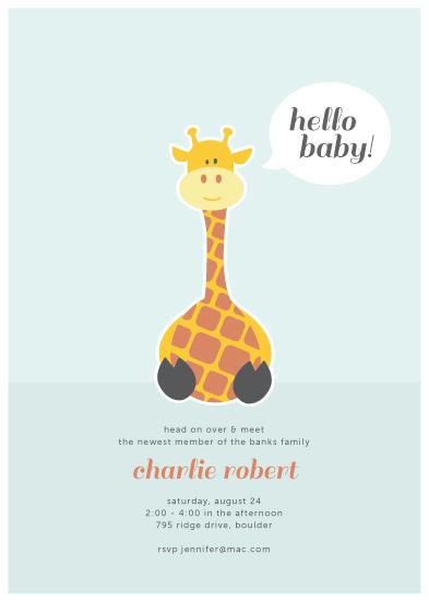 baby shower invitations - Hello Baby by Morgan Newnham