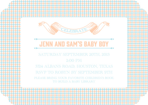 baby shower invitations - A Boy in Houndstooth by Lily Lasuzzo