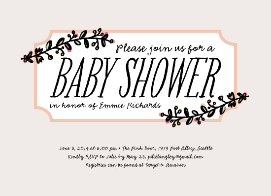 baby shower invitations - Petite Fleur by la Happy