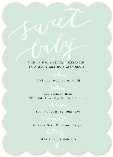 baby shower invitations - simple and sweet baby love by la Happy