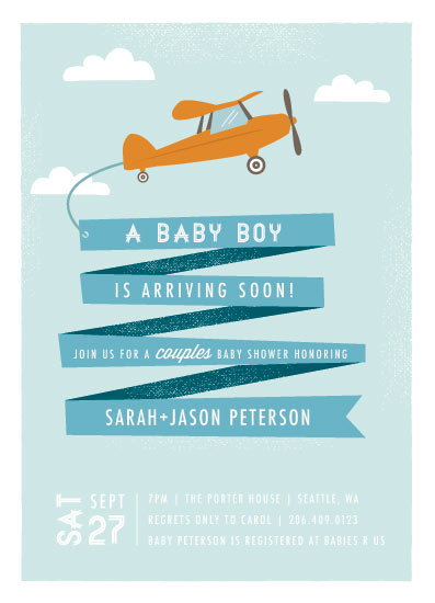baby shower invitations - Airplane News Stream by Karidy Walker