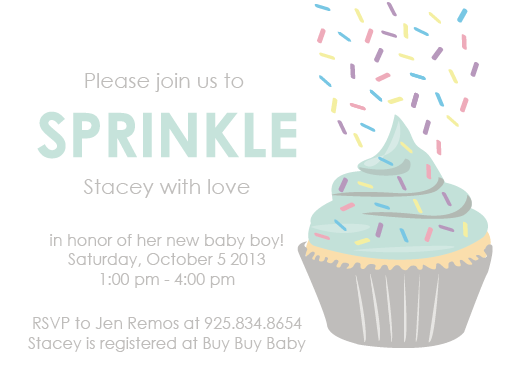 baby shower invitations - Cupcake Sprinkle by Samantha