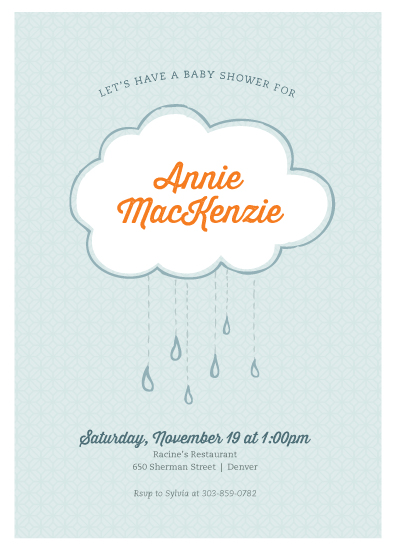 baby shower invitations - Shower with Love by Morgan Newnham